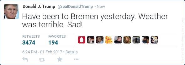 So Macht Sich Das Netz Uber Donald Trump Lustig Fotos Weser Kurier